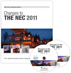 2011 NEC Changes Part 1 2 DVD Course Articles 90 810 w 50 Question CEU Exam - 11CCDVDQ50