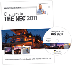 2011 NEC Changes Part 2 Articles 300 810 DVD w 50 Question CEU Exam - 11CCD2Q50