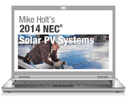2011 Understanding NEC Requirements for Solar PV Systems Texas Online Course - 11PVOLTX