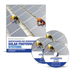 Solar Photovoltaic NEC textbook DVDs 2017 NEC - 17SOLDVD