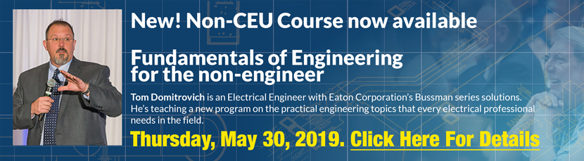 New Non-CEU Course Available now! Thursday, May 30, 2019. Click for details