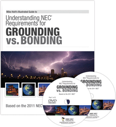 2011 Grounding Vs Bonding Article 250 DVD w 320 Question CEU Exam - 11NCDVD2Q320