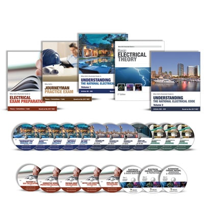 Electricians Exam Preparation Journeyman Comprehensive Library with DVDs